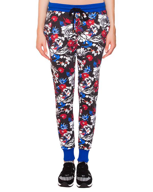 брюки из трикотажа с цветочным принтом артикул TR0309 марки Markus Lupfer купить за 5000 руб.