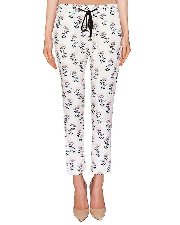 брюки из легкого шелка с цветочным принтом артикул TR371 марки Markus Lupfer купить за 11100 руб.