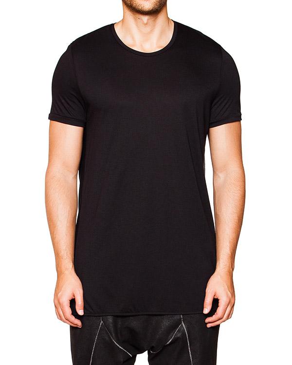 футболка оригинального кроя их мягкого трикотажа с драпировкой на спине артикул TU0634-2438 марки TOM REBL купить за 5600 руб.