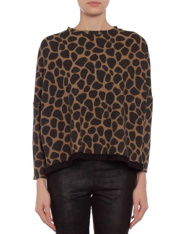 свитшот с ультра-модным леопардовым принтом артикул U53062770 марки Hache купить за 8400 руб.
