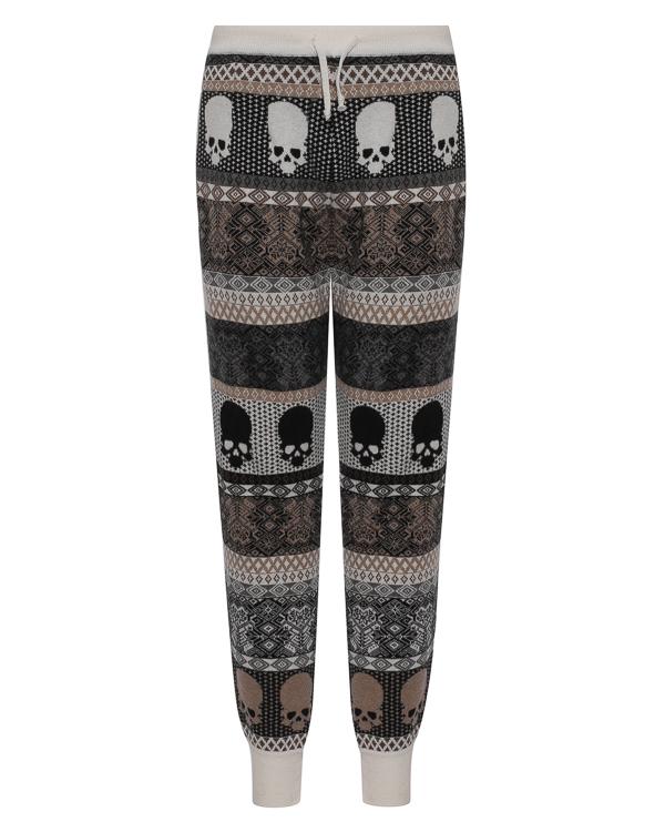 брюки спортивного кроя из шерсти артикул UCJQ08PANCB марки Gemma H купить за 13200 руб.