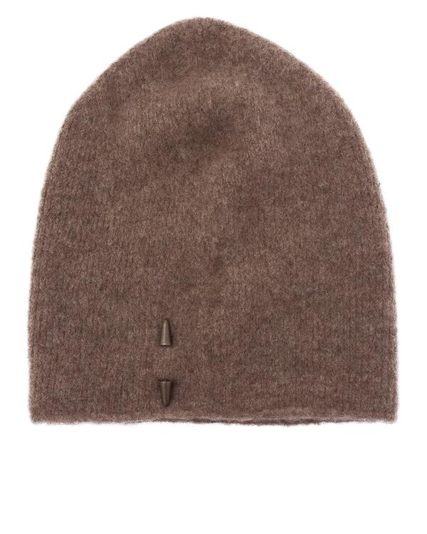 шапка из мягкой шерсти металлическим декором  артикул UK37CO-18 марки Isabel Benenato купить за 9200 руб.