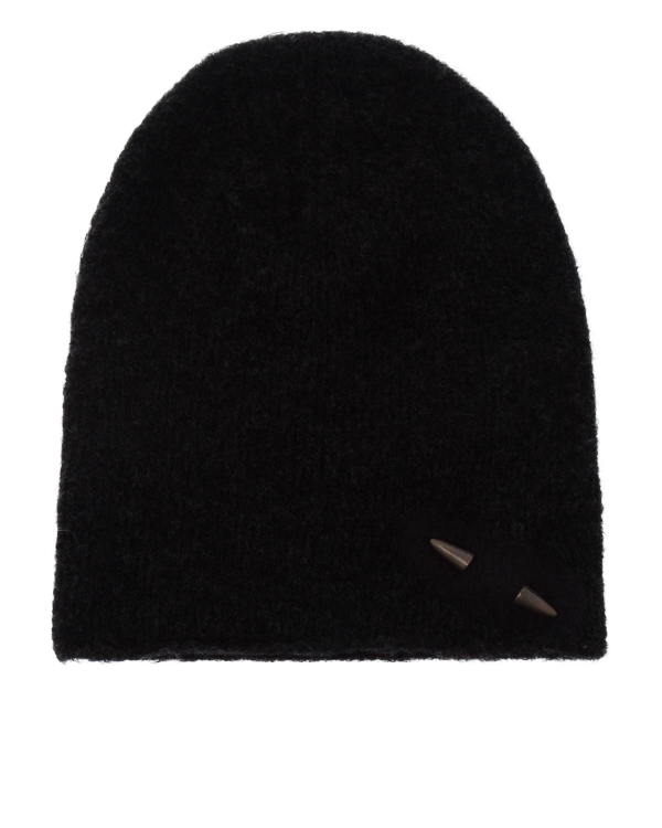 шапка из шерсти с декором-пулей артикул UK37CO марки Isabel Benenato купить за 4700 руб.