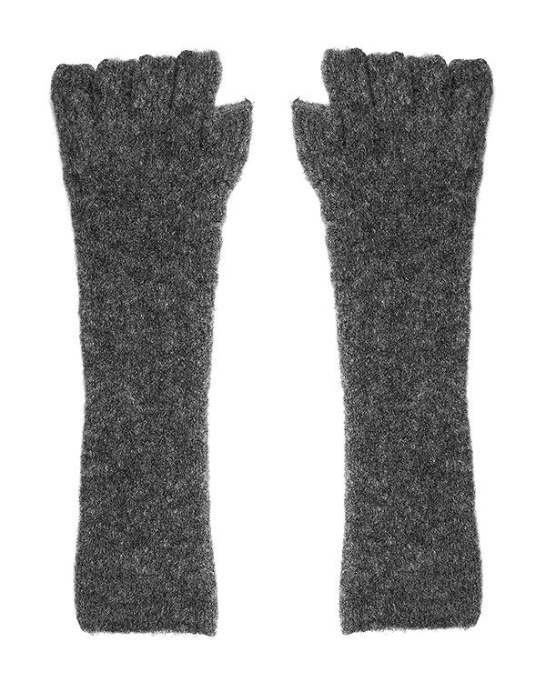 перчатки без пальцев, из шерсти мериноса и яка артикул UK38F16 марки Isabel Benenato купить за 4600 руб.