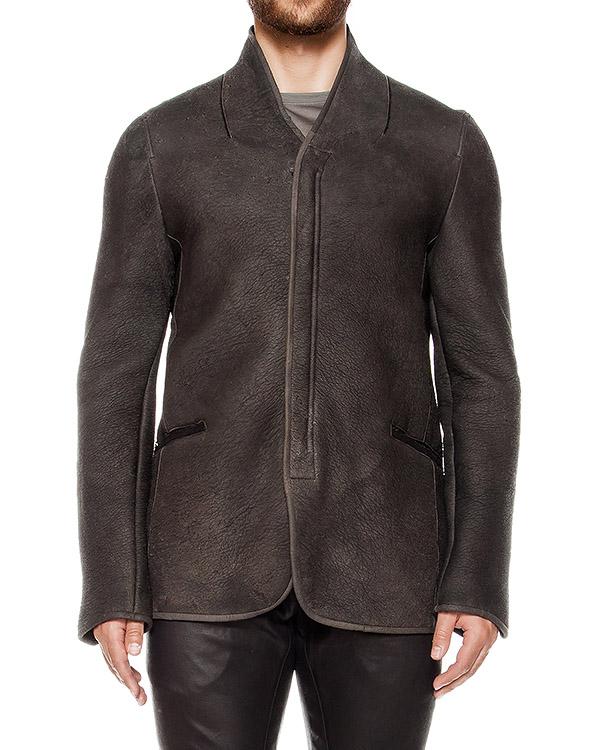 куртка из натуральной фактурной кожи и шерсти артикул UL03F16 марки Isabel Benenato купить за 98300 руб.