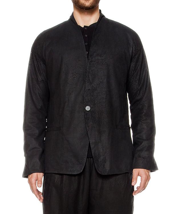 пиджак из натуральной кожи, дополнен вязаной спиной артикул UL21F16 марки Isabel Benenato купить за 61000 руб.