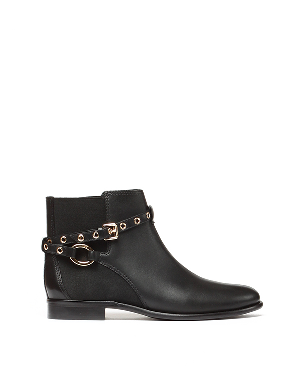 ботинки из натуральной кожи с эластичной вставкой, дополнены ремешком с люверсами артикул V2510485 марки DIANE von FURSTENBERG купить за 8800 руб.