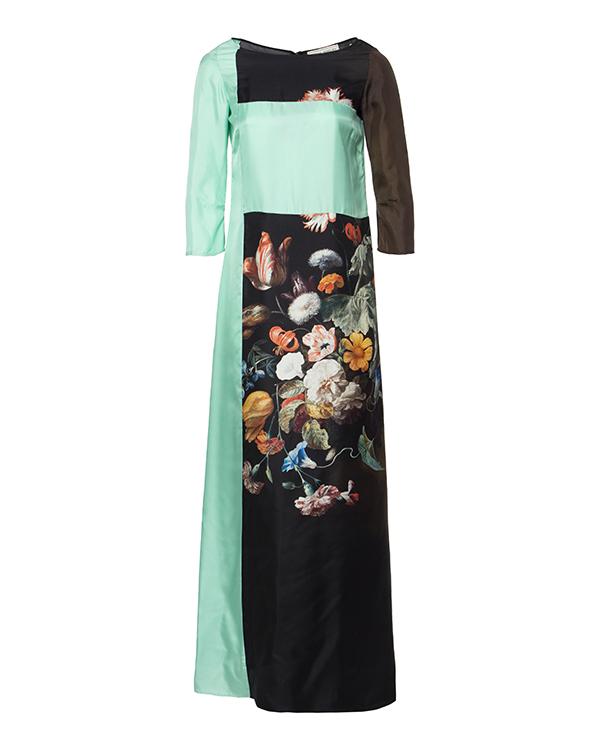платье с искусно детализированным цветочным принтом артикул VCP408S марки Veronique Branquinho купить за 32600 руб.