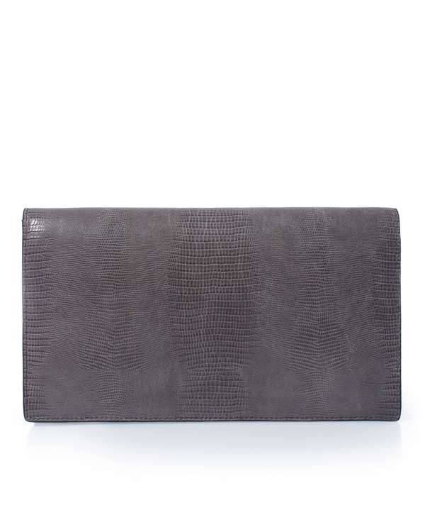 Essentiel Antwerp -клатч из кожи с фактурой под рептилию  артикул  марки Essentiel купить за 26500 руб.