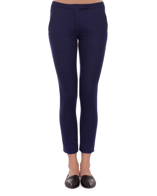 брюки из плотной шерсти, прилегающего силуэта артикул VPD205AVD002 марки Veronique Branquinho купить за 11100 руб.
