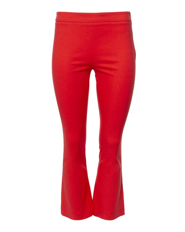 брюки укороченные расклешенного кроя из эластичного хлопкового трикотажа артикул VV408 марки VIVETTA купить за 8800 руб.