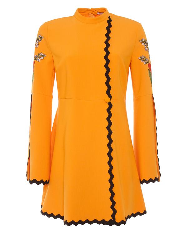 платье мини из крепа с контрастной отделкой  артикул VV508 марки VIVETTA купить за 39800 руб.