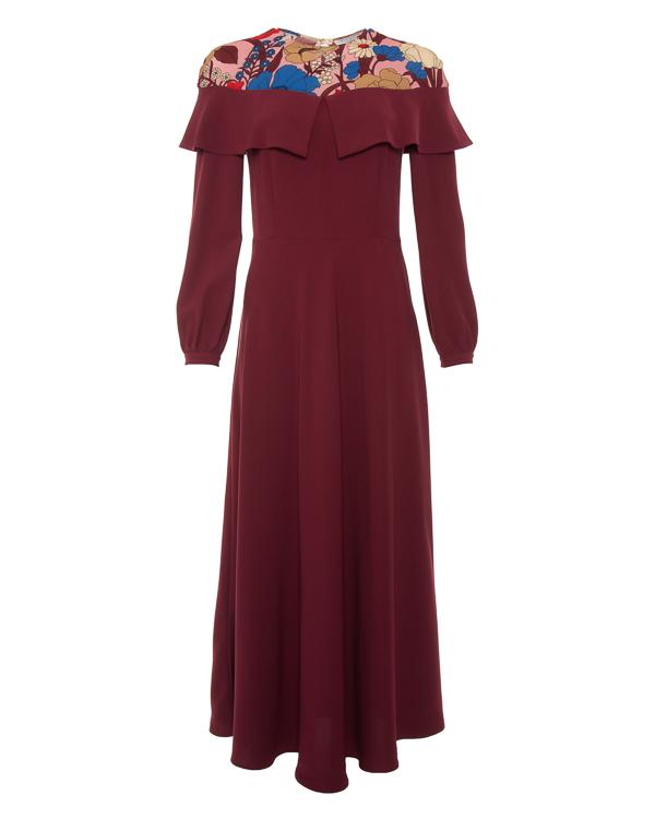 платье в пол из крепа с рисунком  артикул VV518 марки VIVETTA купить за 39800 руб.