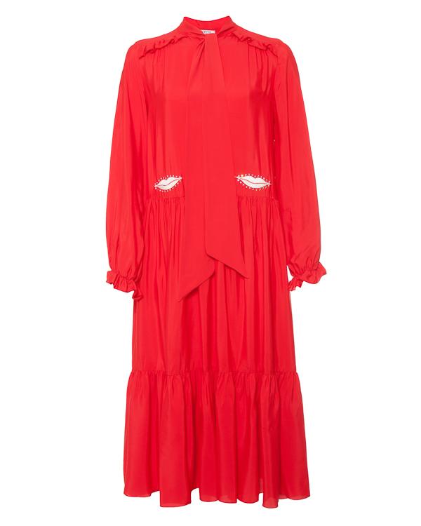VIVETTA миди из вискозы и шелка с вышивкой артикул  марки VIVETTA купить за 29000 руб.