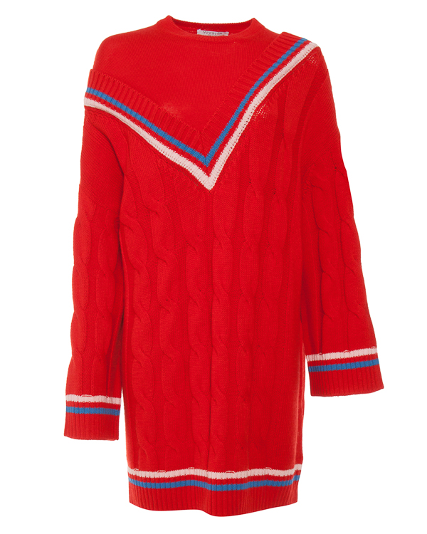 свитер из шерсти узорной вязки  артикул VV711 марки VIVETTA купить за 56900 руб.