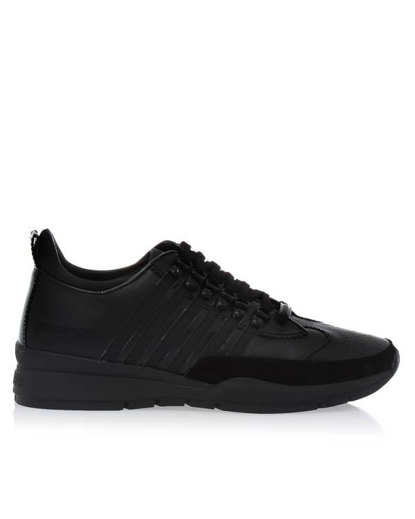 кроссовки из кожи на шнуровке  артикул W17SN151 марки DSQUARED2 купить за 17700 руб.