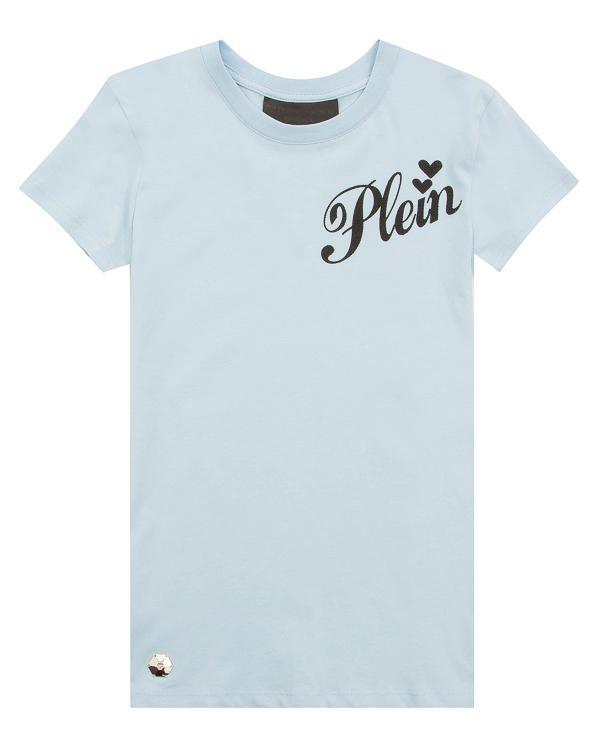 футболка облегающего силуэта с принтом артикул WTK0698 марки PHILIPP PLEIN купить за 12300 руб.