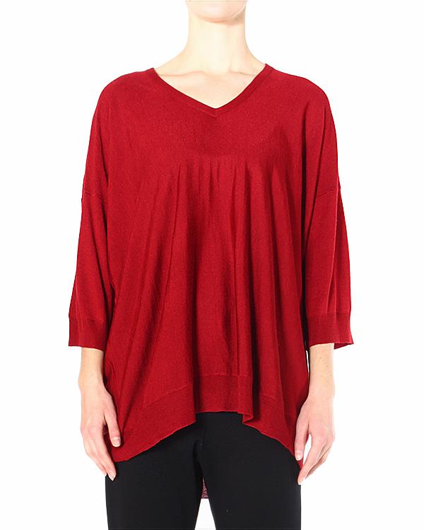 пуловер свободного асимметричного кроя с V-образным вырезом артикул ZU49KN234 марки ZUCCA купить за 10600 руб.