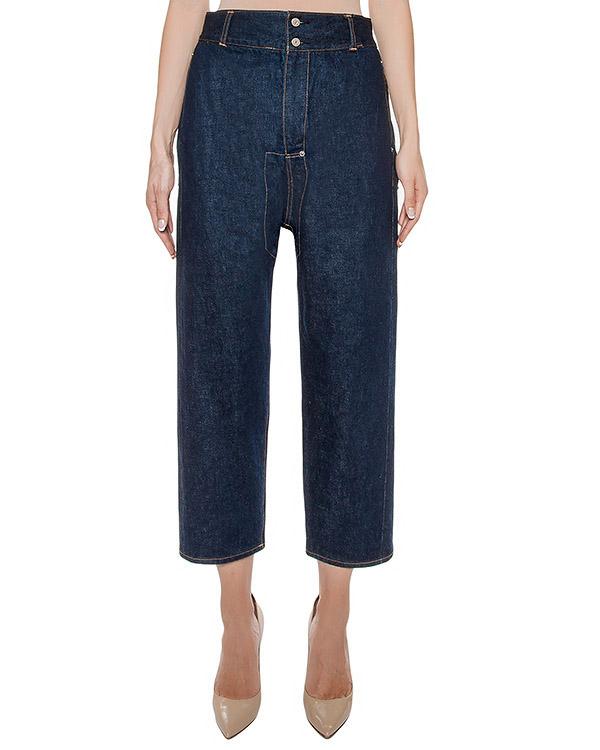 джинсы укороченного кроя из плотного денима артикул ZU69FF075 марки ZUCCA купить за 15000 руб.