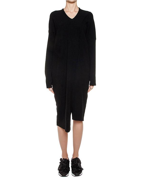 платье асимметричного кроя из шерсти артикул ZU69JH096 марки ZUCCA купить за 20900 руб.