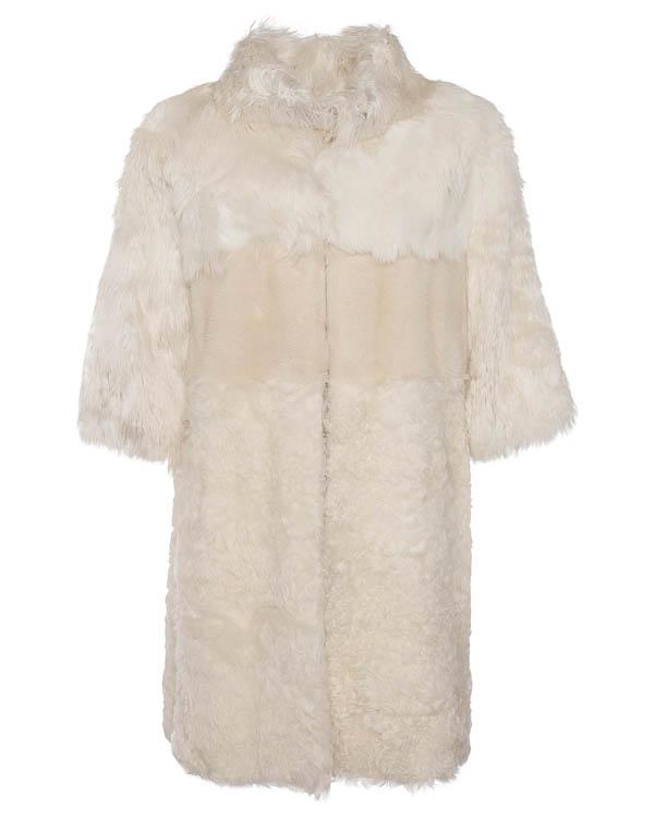 мех.пальто из овчины, альпаки и норки артикул VALKA12 марки P.A.R.O.S.H. купить за 37000 руб.